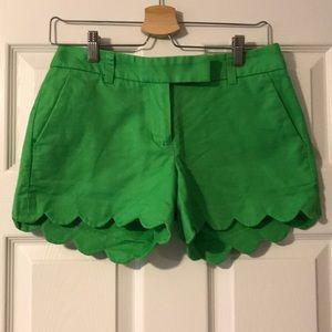 J.Crew Factory Scalloped Shorts